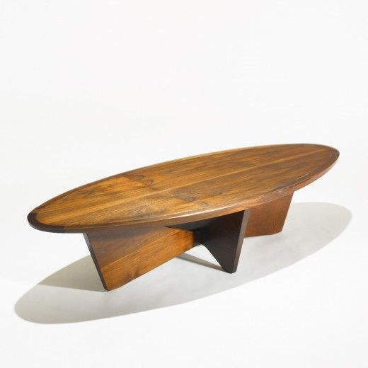 George Nakashima, Walnut Coffee Table for Widdicomb, 1961.