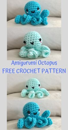 Kawaii Octopus Crochet Pattern - Crafty Kitty Crochet #crochetoctopus