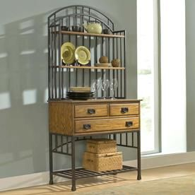 Home Styles Oak Hill Oak Antique Bronze Bakers Rack 5050 615