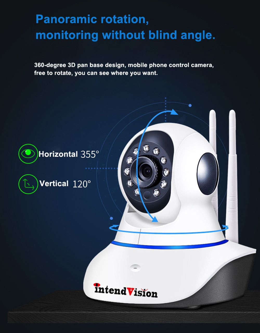 Intendvision IP Camera WiFi Two Way Audio Wireless