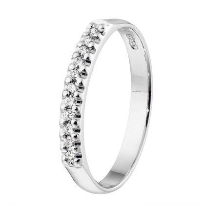 Kalevala Koru / Kalevala Jewelry / Kevätkaste-sormus 11 x 0,01 ct / 18K valkokulta tai keltakulta / #sormuskertootarinaa