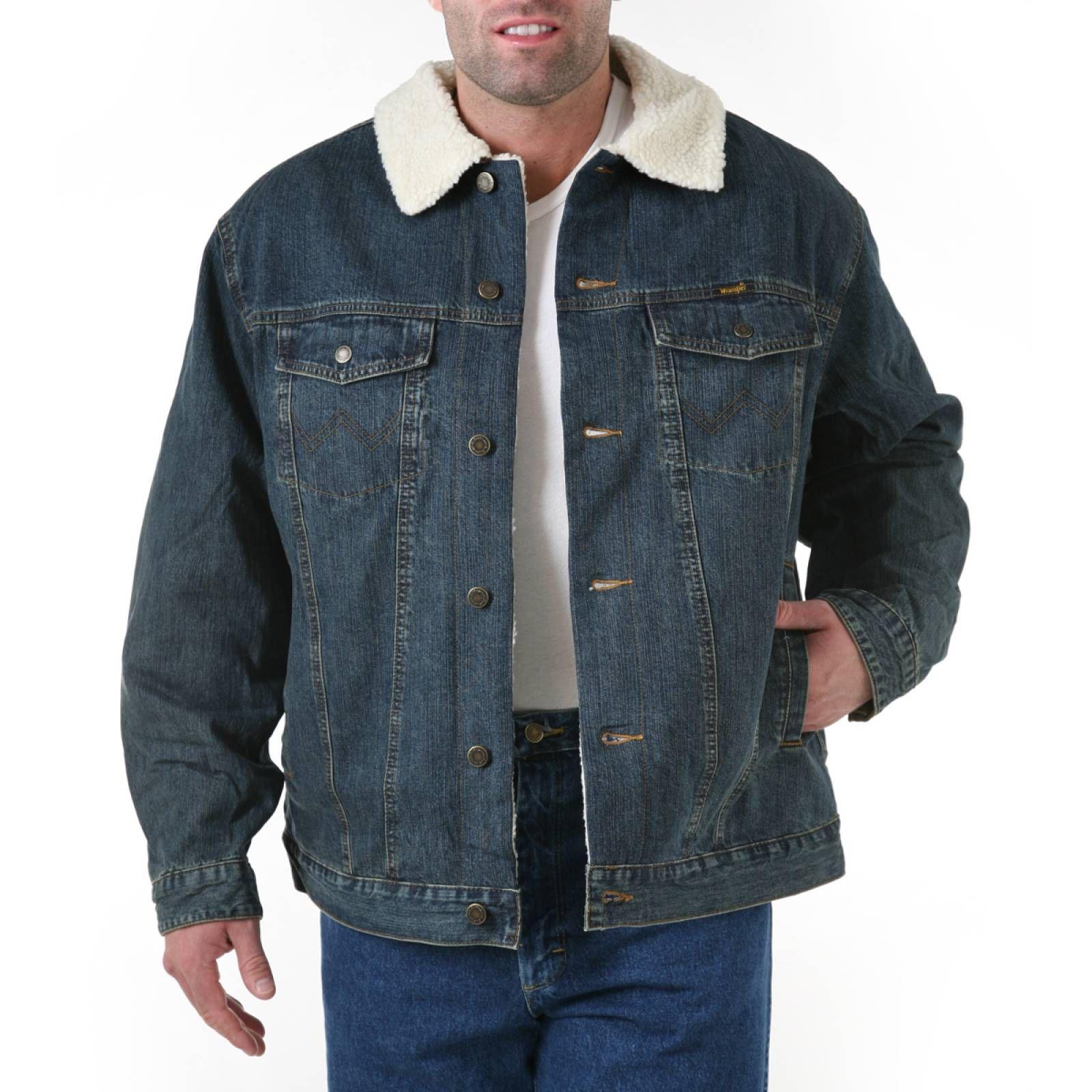Wrangler Western Styled Sherpa Lined Denim Jacket Rustic Sherpa Lined Denim Jacket Denim Jacket Denim Jacket Men [ 1600 x 1600 Pixel ]