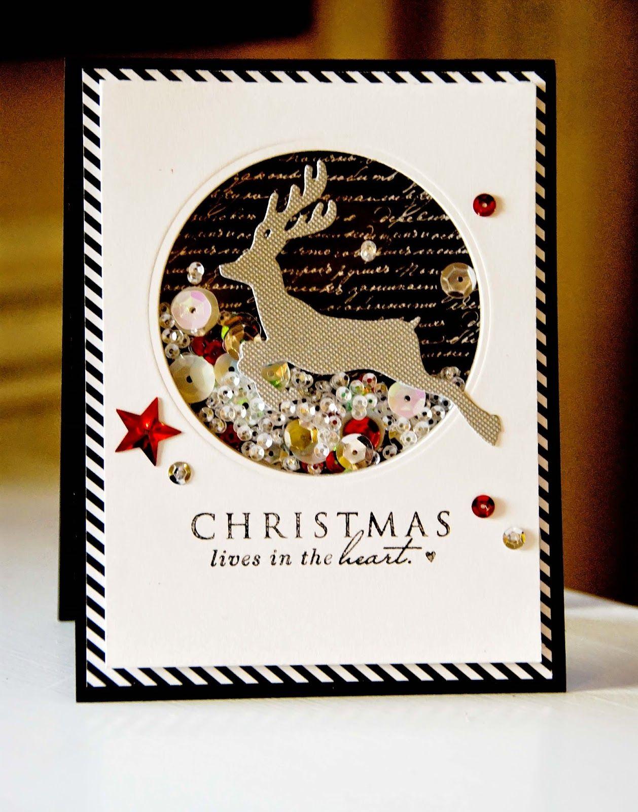 Shaker Card Shaker cards, Christmas cards, Diy christmas