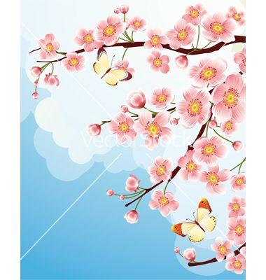 Design Elements Lukisan Bunga Bunga Sakura Lukisan