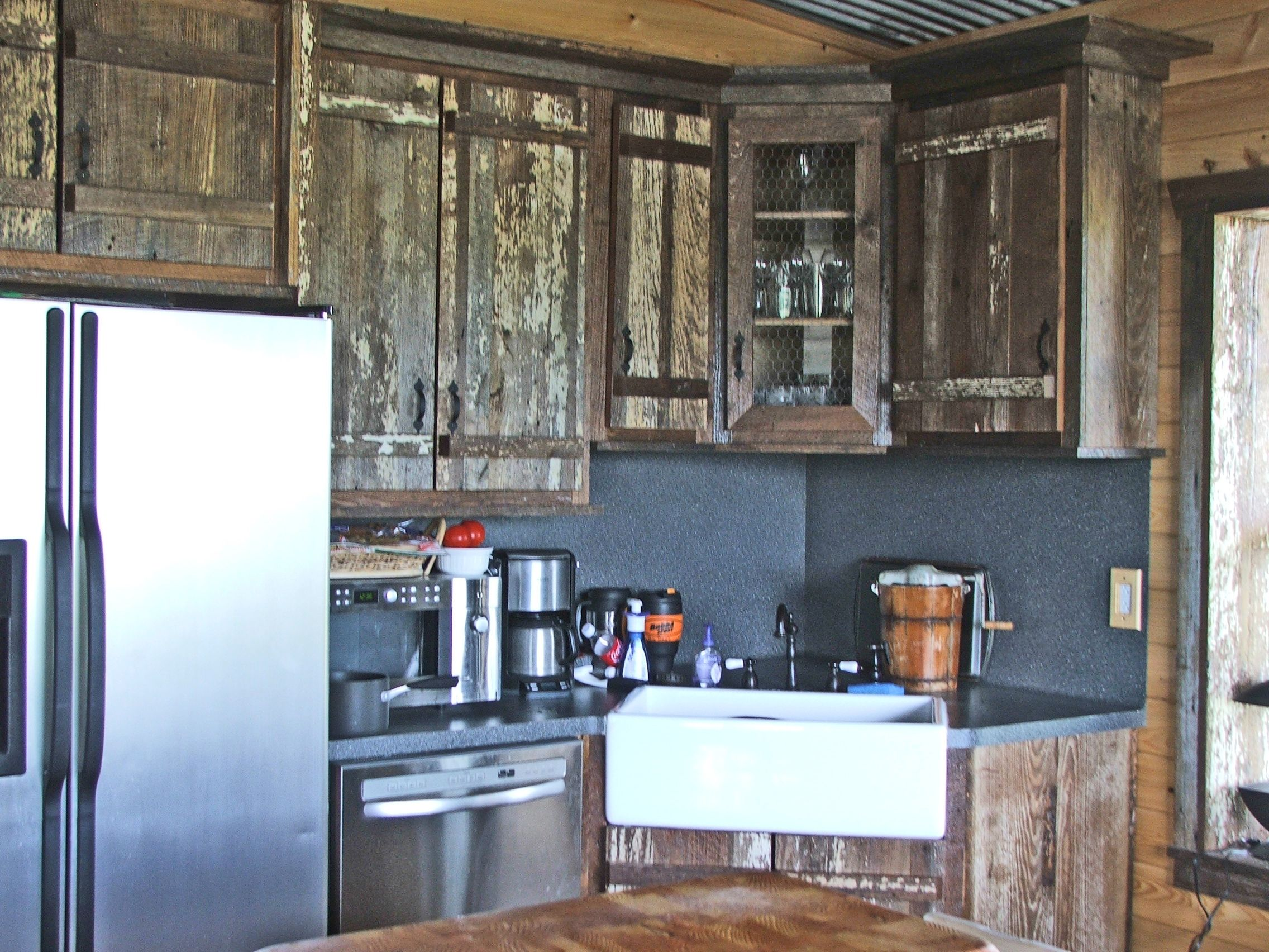 Someday I WILL have barnwood kitchen cabinet doors Absolutely