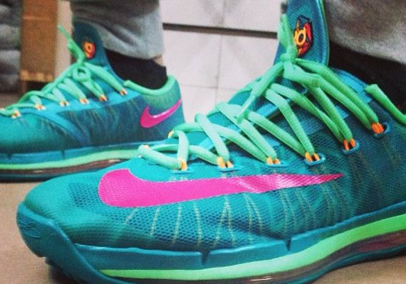 big sale 38c9b 33e05 nike kd 6 tribal green vivid pink night shade Nike KD 6 Elite Tribal Green  Vivid Pink Night Shade