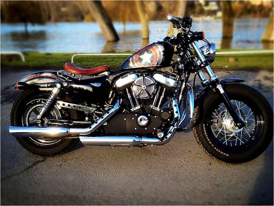 Harley davidson forty eight d co perso sur le th me for Deco harley davidson