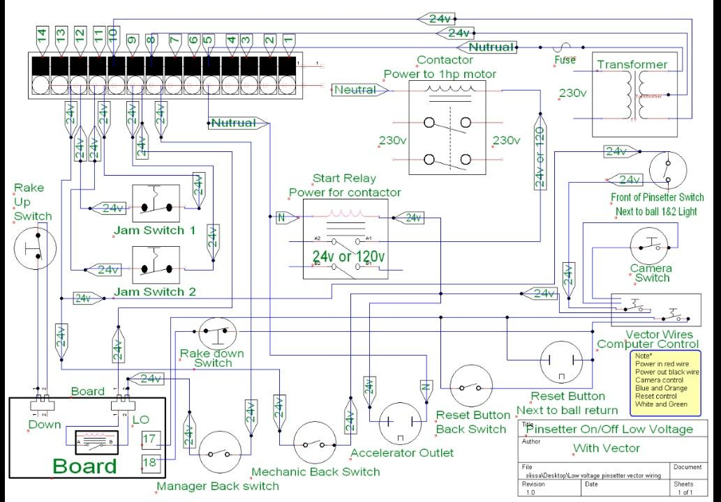 A2 Pinsetter Electrical Schematic Partial Electricity Floor Plans