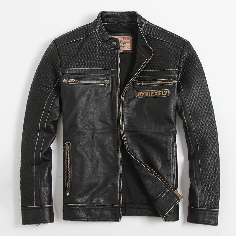 Find more leather suede information about men 39 s leather jacket motorcycle denny dora men 39 s - Beste jeansjacke ...