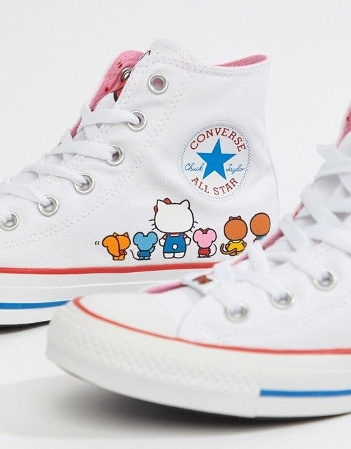 huge selection of 9da8f f5beb Converse X Hello Kitty Hi Träningsskor   f o o t w e a r   Pinterest   Hello  kitty, Converse and Kitty
