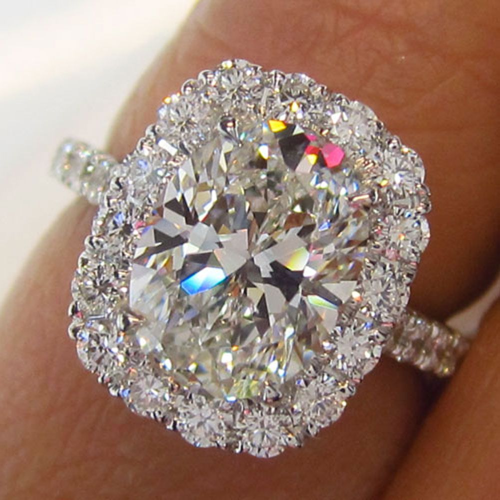 Oval Halo Diamond Ring Engagement rings, Wedding rings
