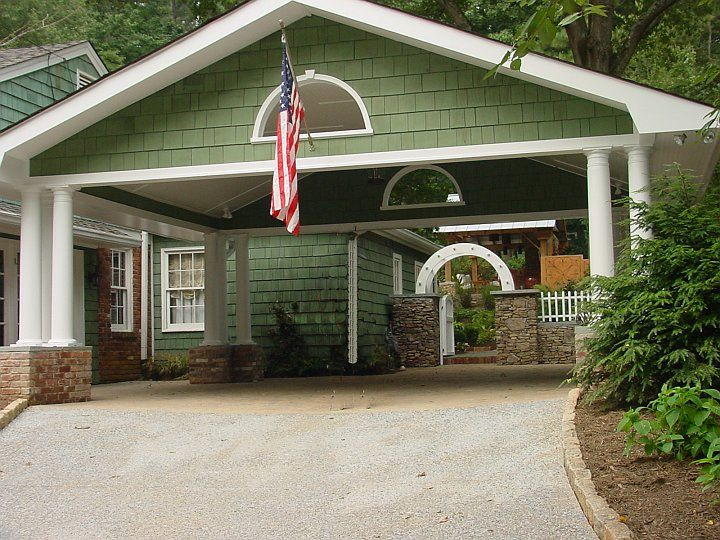 Car port of 22 brookhaven carport addition home services for 2 car carport plans