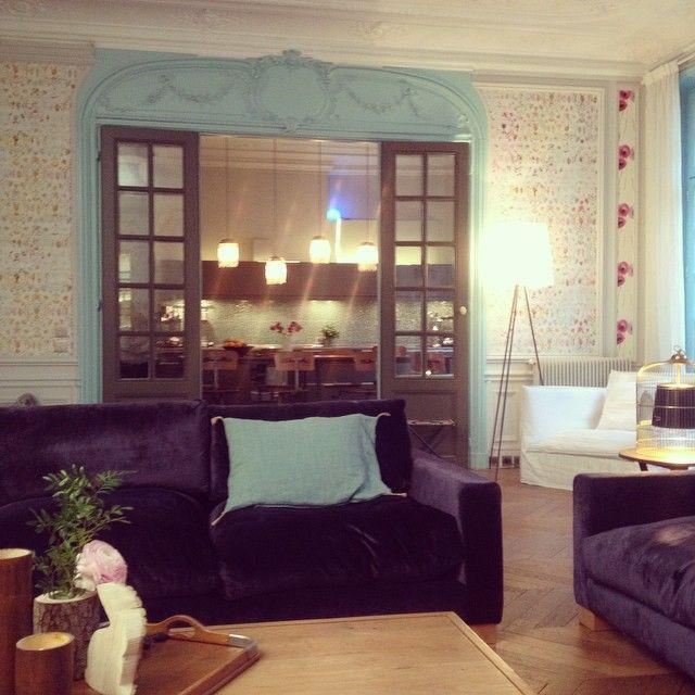 Cet après-midi la décoratrice du0027intérieur Delphine Estour nous ouvre - couleur des portes interieur
