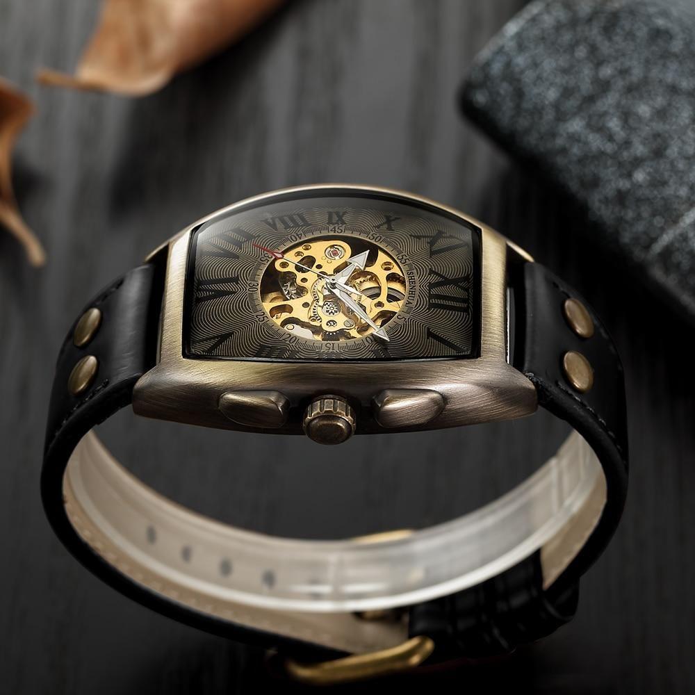 Automatische Vintage Uhr Für Männer In Der Farbe Schwarz Lq Watch Männer Uhren Vintage Uhren Uhren Herren