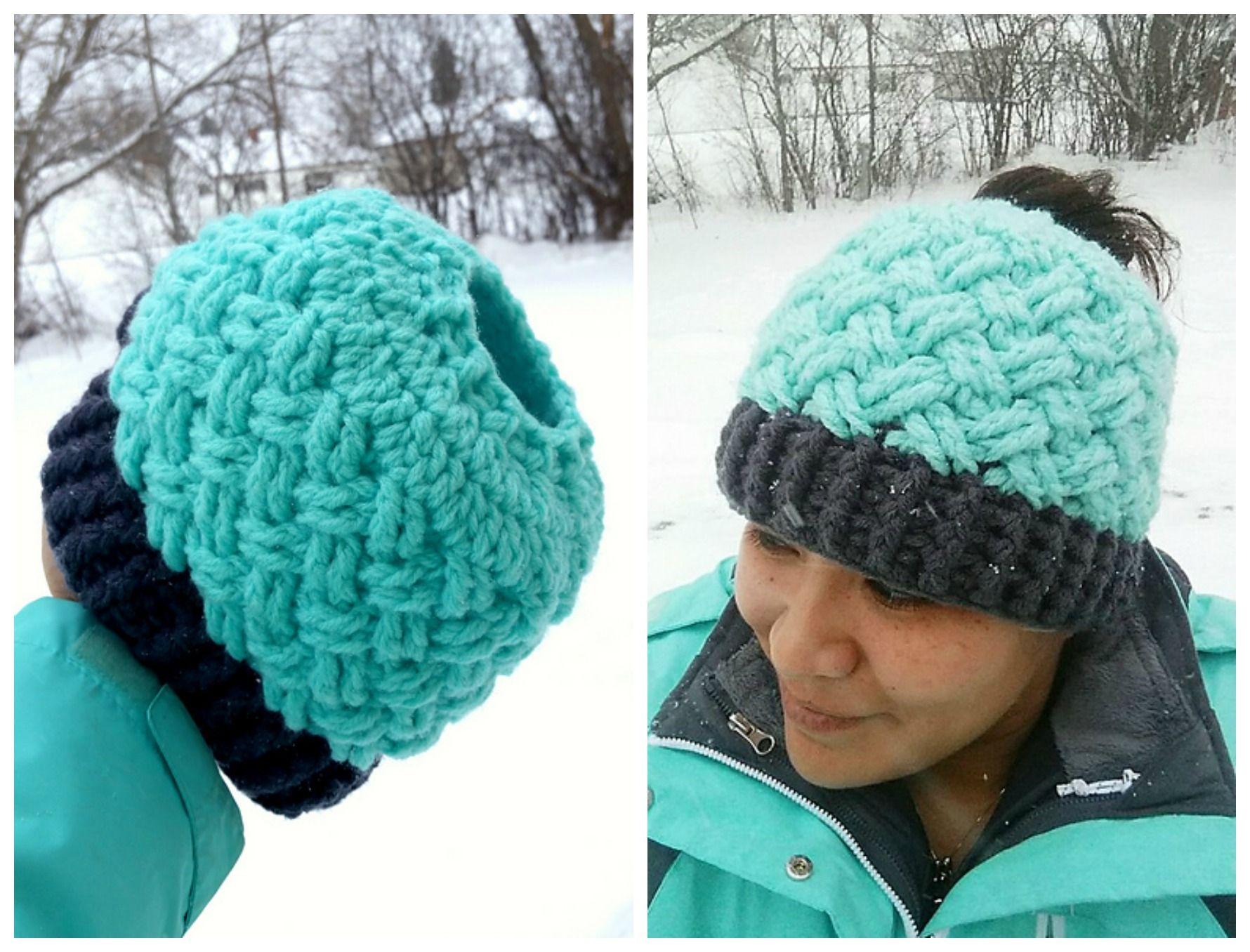 Celtic Weave Messy Bun hat | Crafts, Knit & Crochet | Pinterest ...