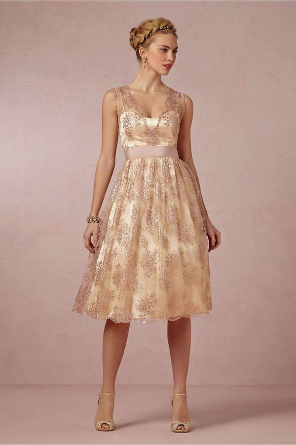 Retro Lace Overlay Wedding Dress