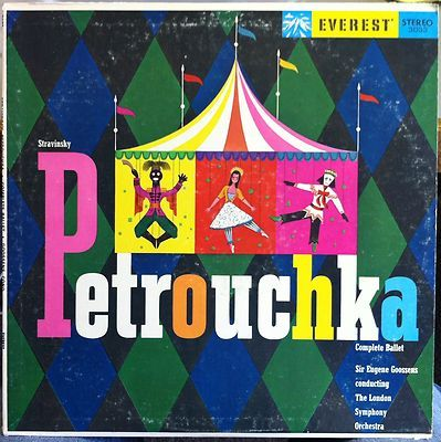 Eugene Goossens Stravinsky Petrouchka Lp Mint Sdbr 3033 Vinyl Everest Album Covers Album Cover Design Album Cover Art