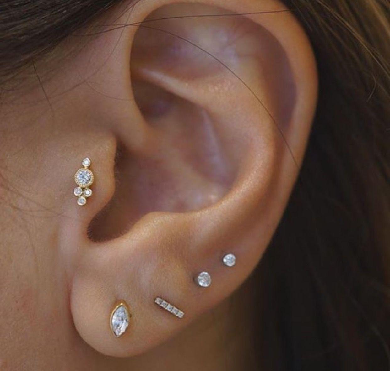 Maria Tash Earings Piercings Tragus Piercings Tragus Jewelry