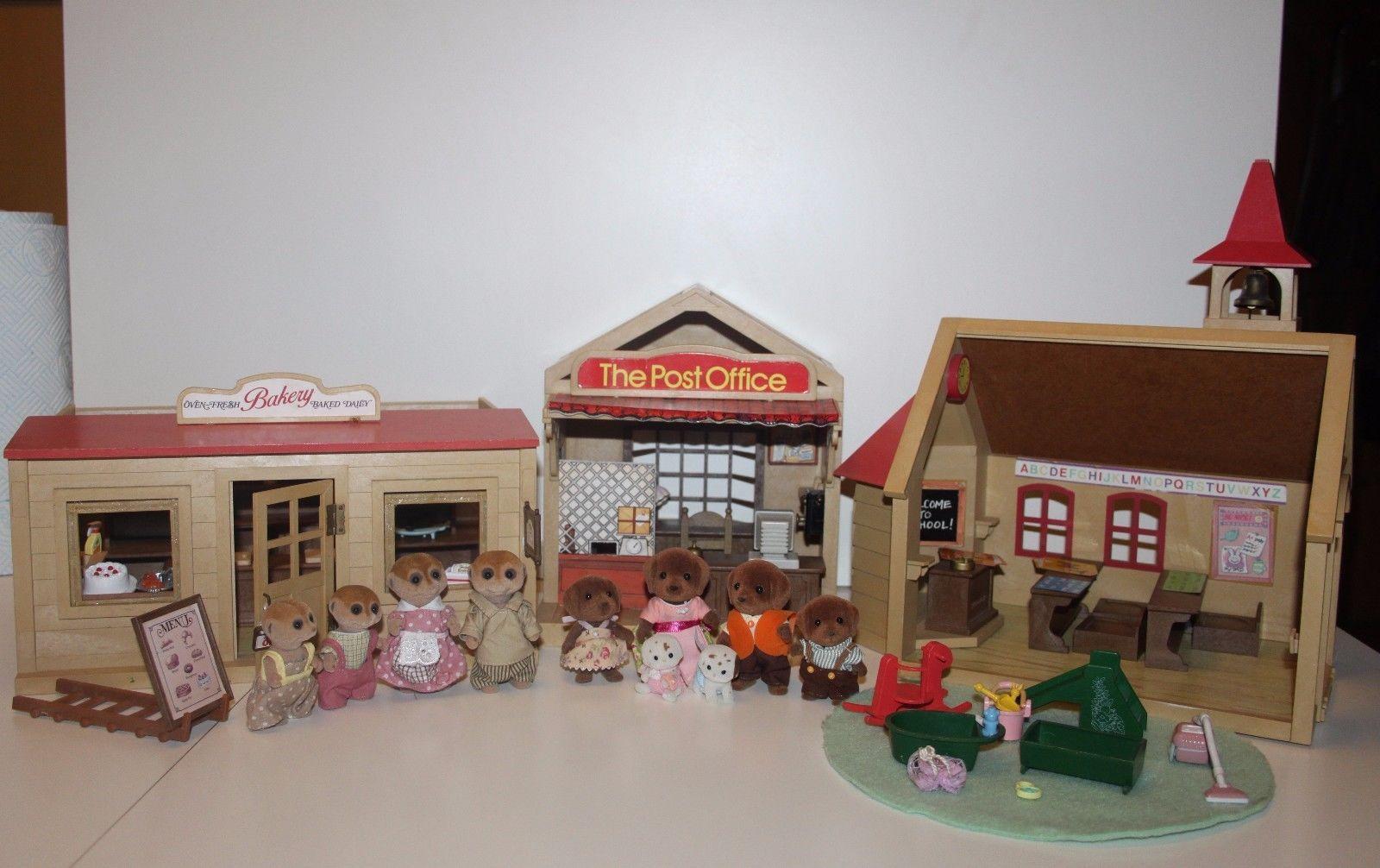 Sylvanian Families Bakerychurch Schoolpost Officefigures