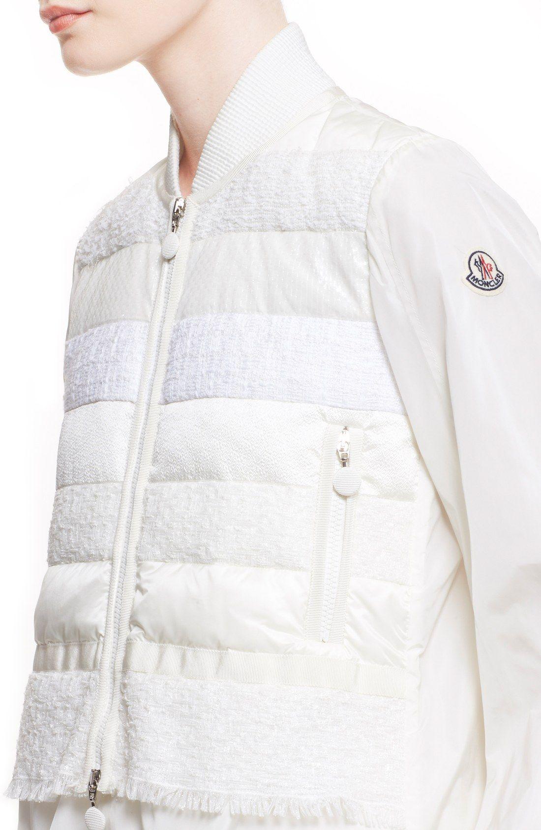 Moncler 'Genets' Tweed Detail Puffer Jacket | Fashion ...