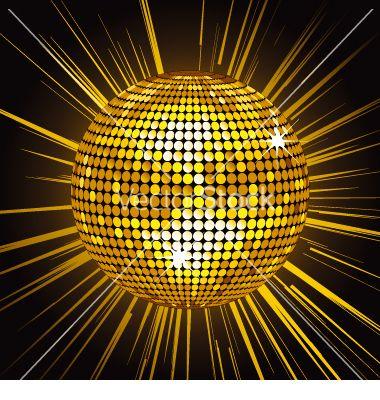 Gold Mirror Ball Vector Art Download Disco Vectors 28254 Mirror Ball Gold Mirror Gold