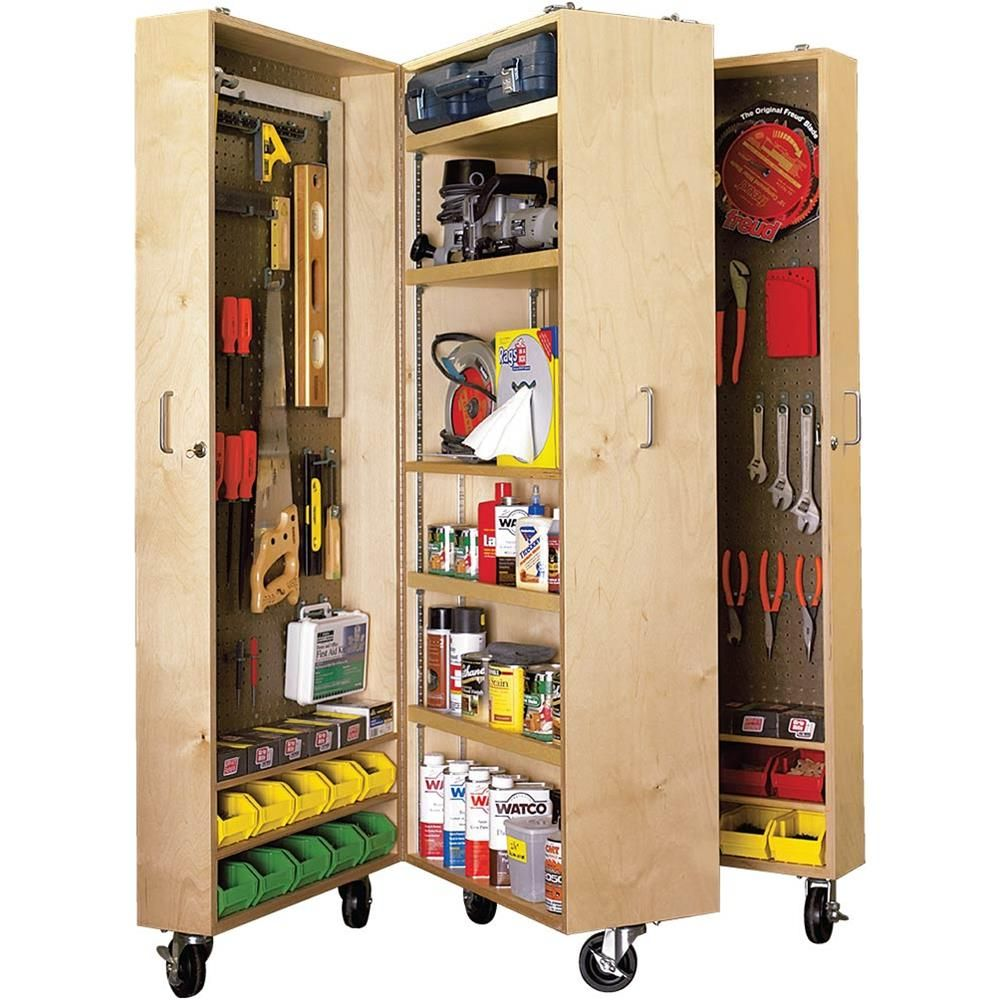 Image Result For Best Woodshop Large Material Storage: Paper Project Plans To Build A Mobile Tool Cabinet