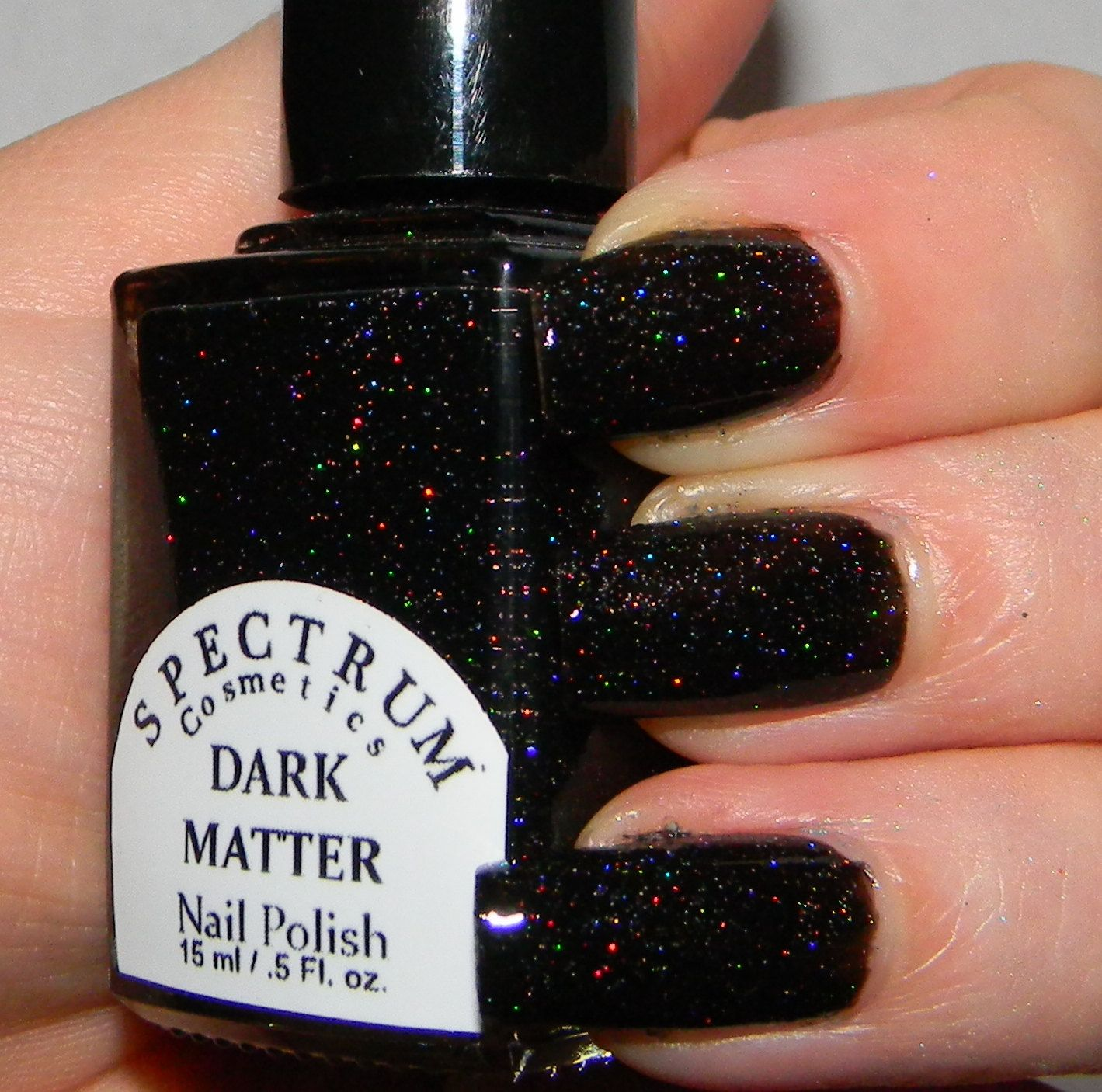 Black Holographic Glitter nail Polish DARK MATTER | Nails ...