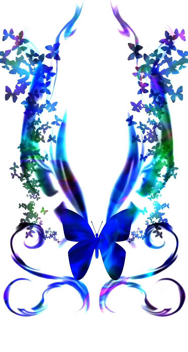 Pretty blue butterfly that I got from cocoppa wallpapers
