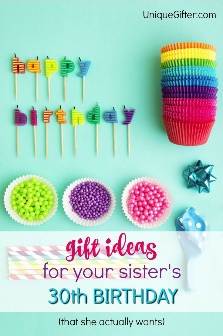 20 gift ideas for your sister's 30th birthday | gift ideas