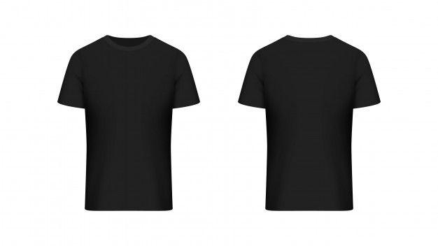 Download Front And Back Black T Shirt Black Tshirt Shirts T Shirt Png