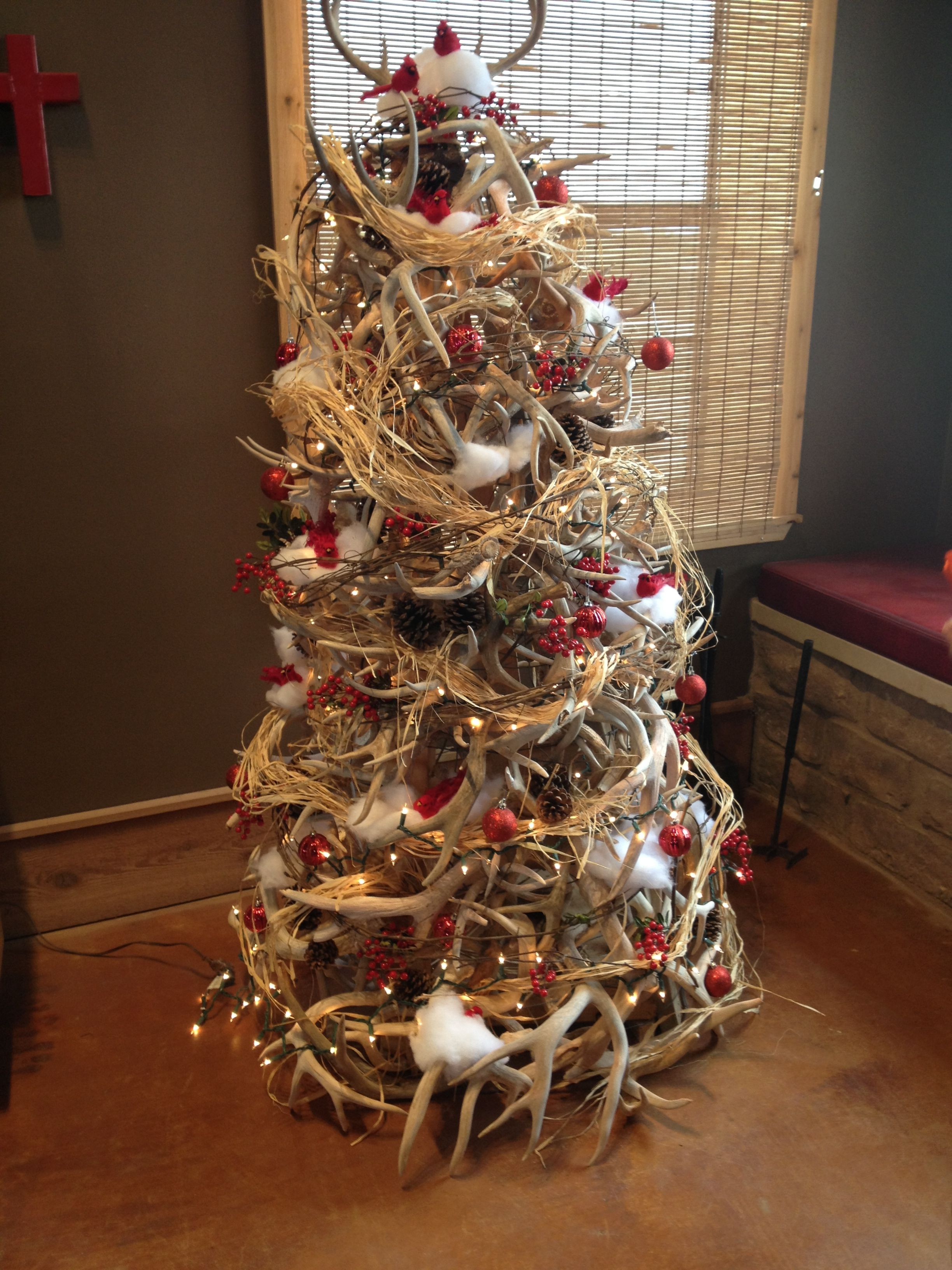 Tree made out of deer antlers | Christmas Trees ...