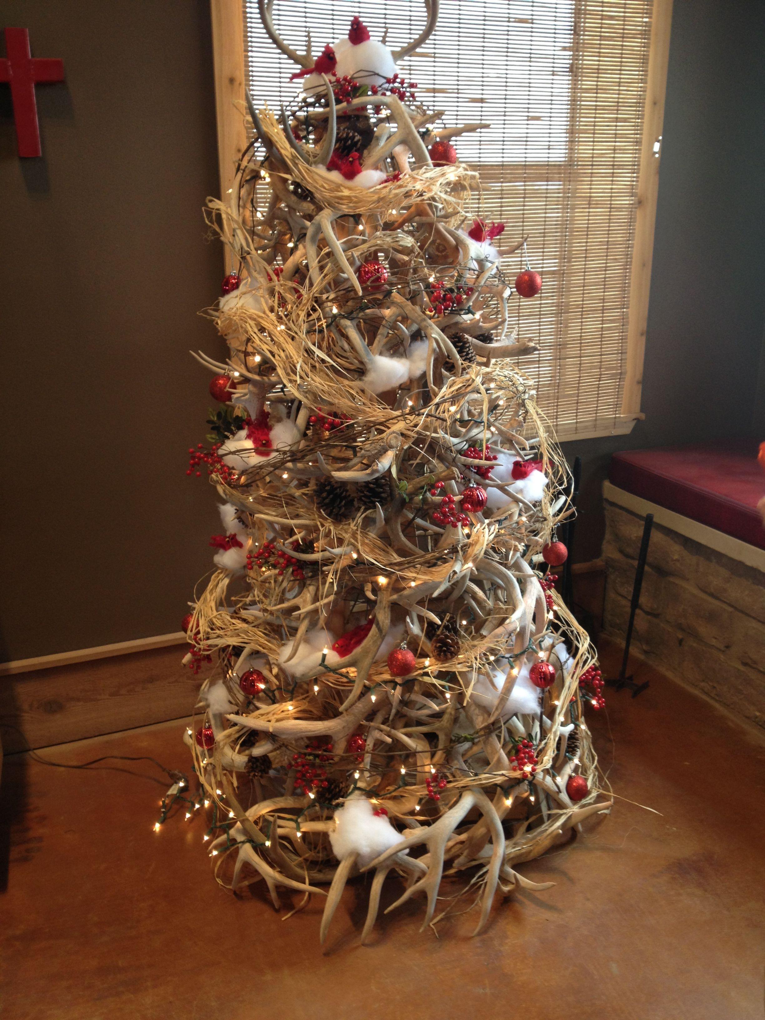 Christmas Tree Made Deer Antlers