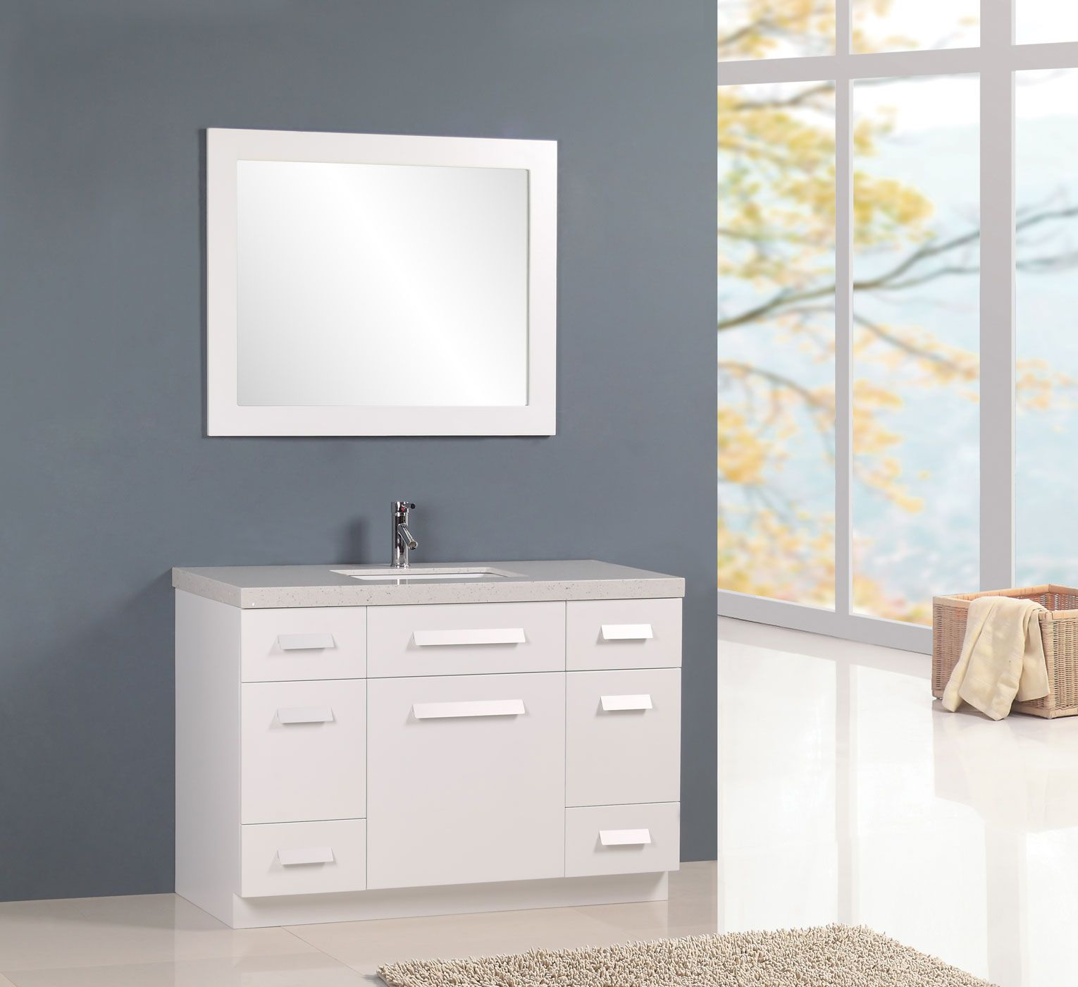 single carrera set marble white vanity with finish inch bathroom top sink