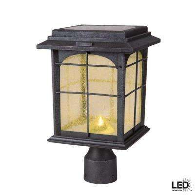 Solar Outdoor Hand Painted Sanded Iron Post Lantern With Seedy Glass Shade Lamp Post Lights Solar Lamp Post Solar Post Lights