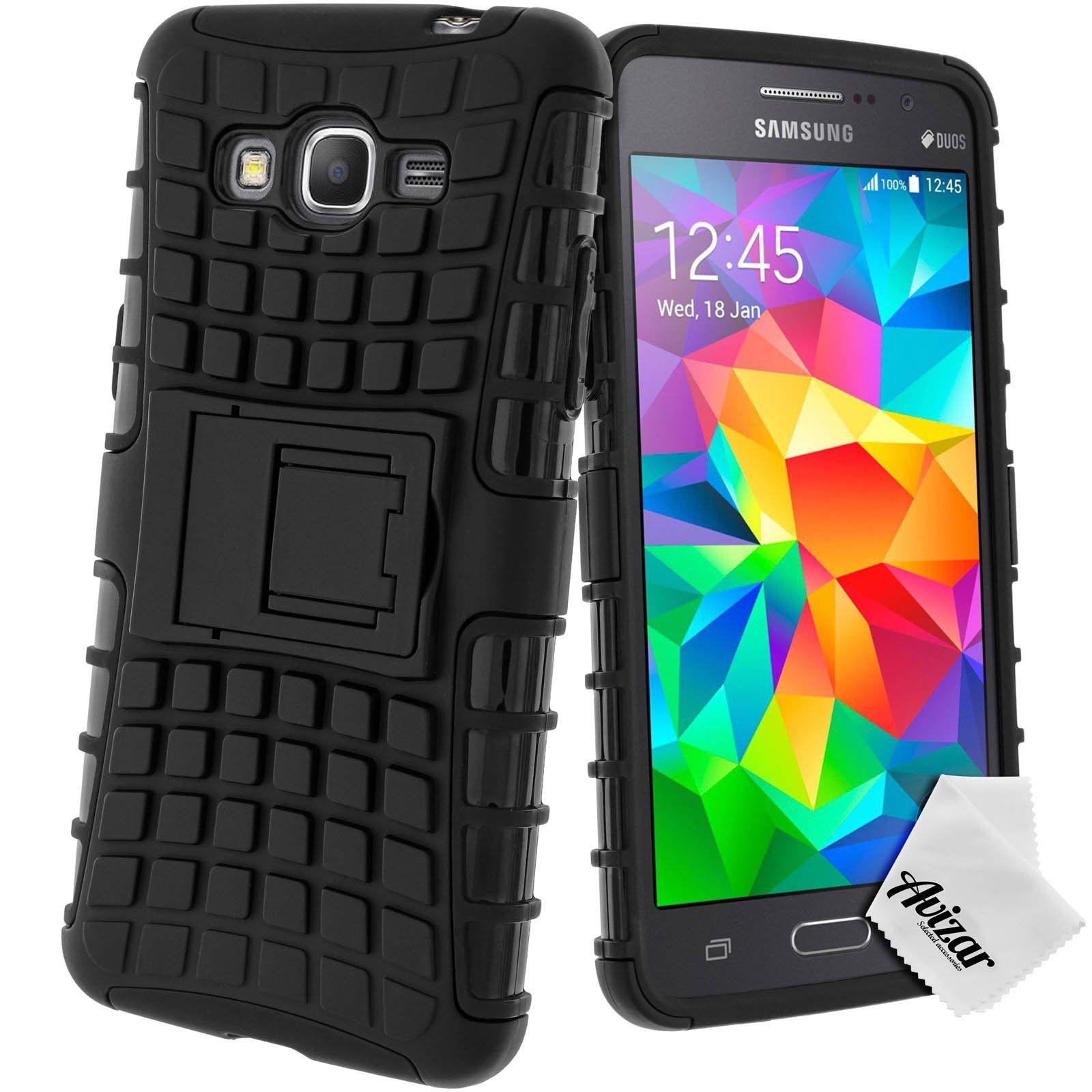 Avizar Coque Protection Antichocs pour Samsung Galaxy Grand Prime Bimati¨re Noir
