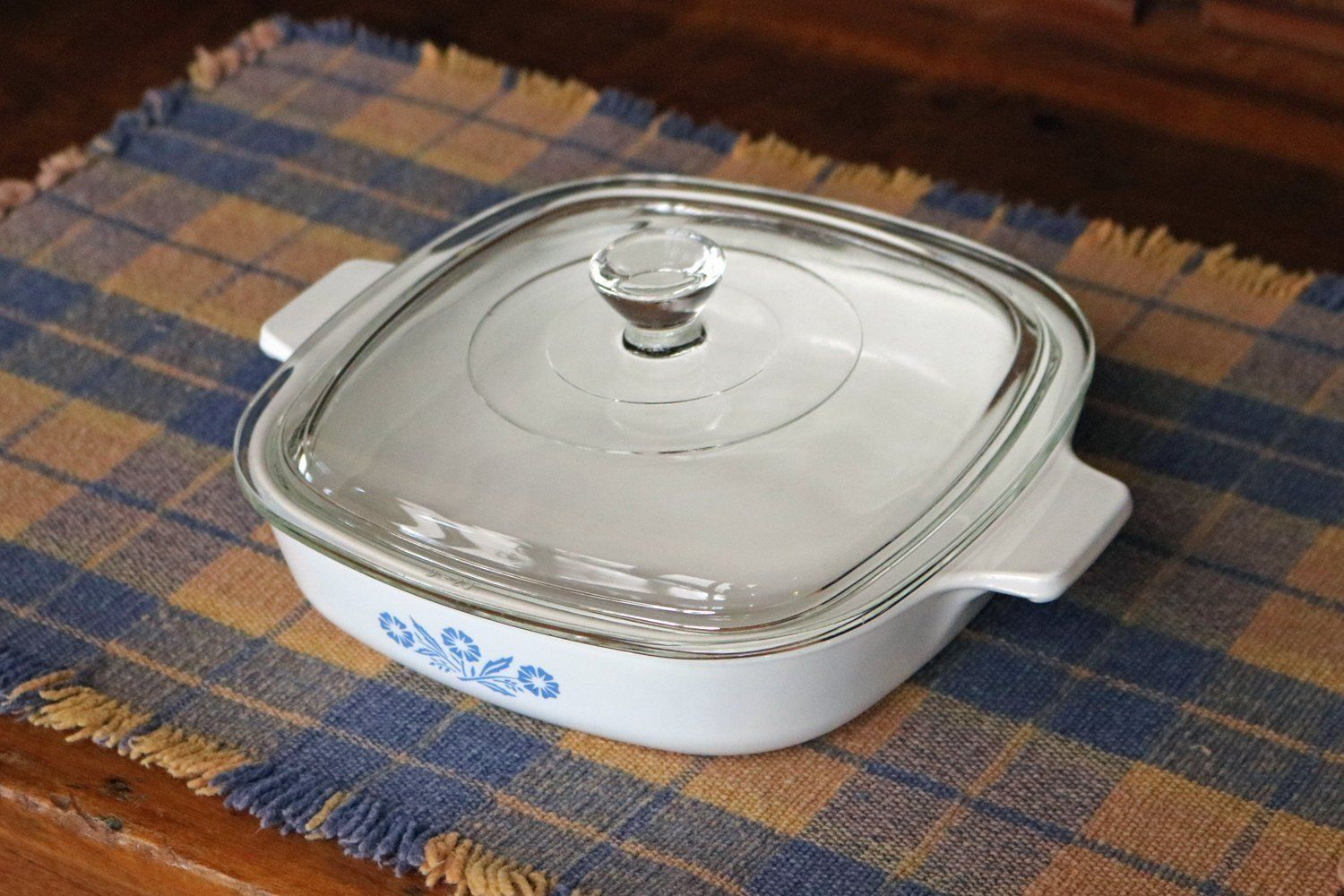 One 1 Qt Corning Ware Saucepan With Clear Pyrex Lid Blue Cornflower 1960s Sauce Pan P 7 B Skillet Pyrex Lids Baked Dishes Slow Cooker Crock Pot