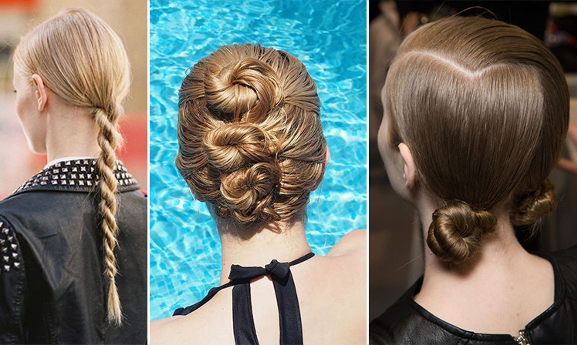 easy hairstyles for wet hair you can do in the bathroom after pool