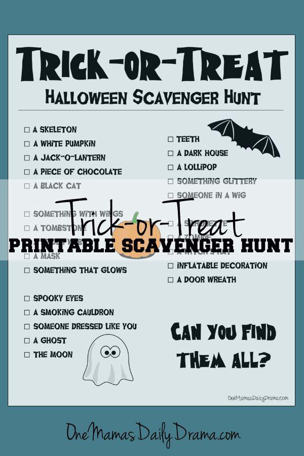 Halloween ideas hunt adult scavenger