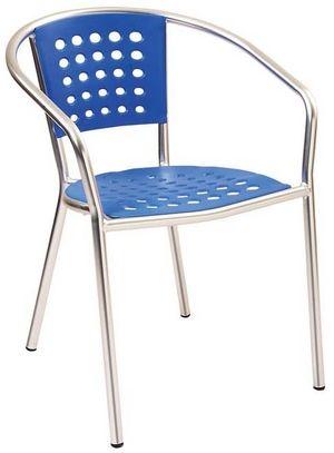 Melamine and Aluminum Arm Chair