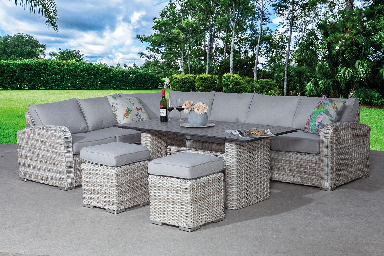 Garden impressions portland lounge diningset mazz tuinmeubelen lounge - Tuinmeubelen buiten ...