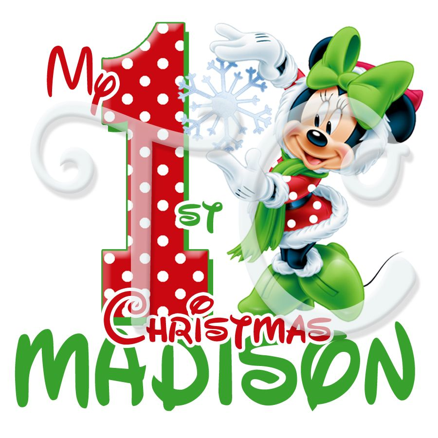 Mnnie Mouse 1st Christmas Personalized Christmas t shirt