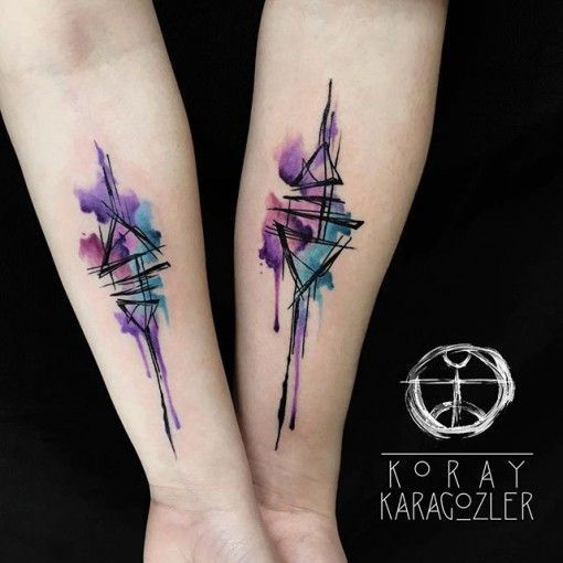 Abstract Watercolor Tattoos Designs Pinterest Tatuaje