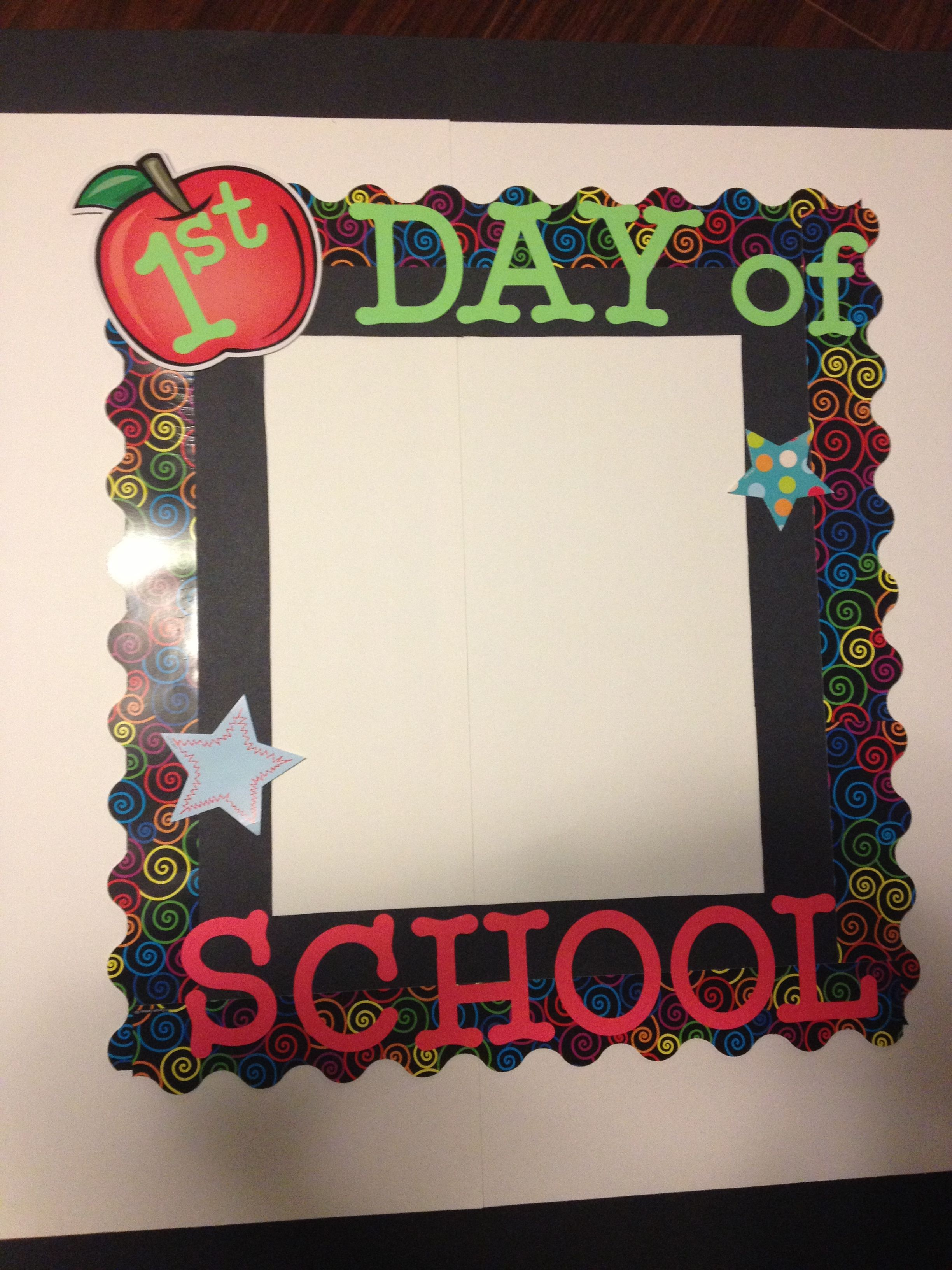 I Take A Picture Of My Kids Using The First Day Of School Frame And