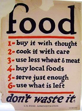Food Poster 1917 From Usda Vintage Food Posters Food Rules Us