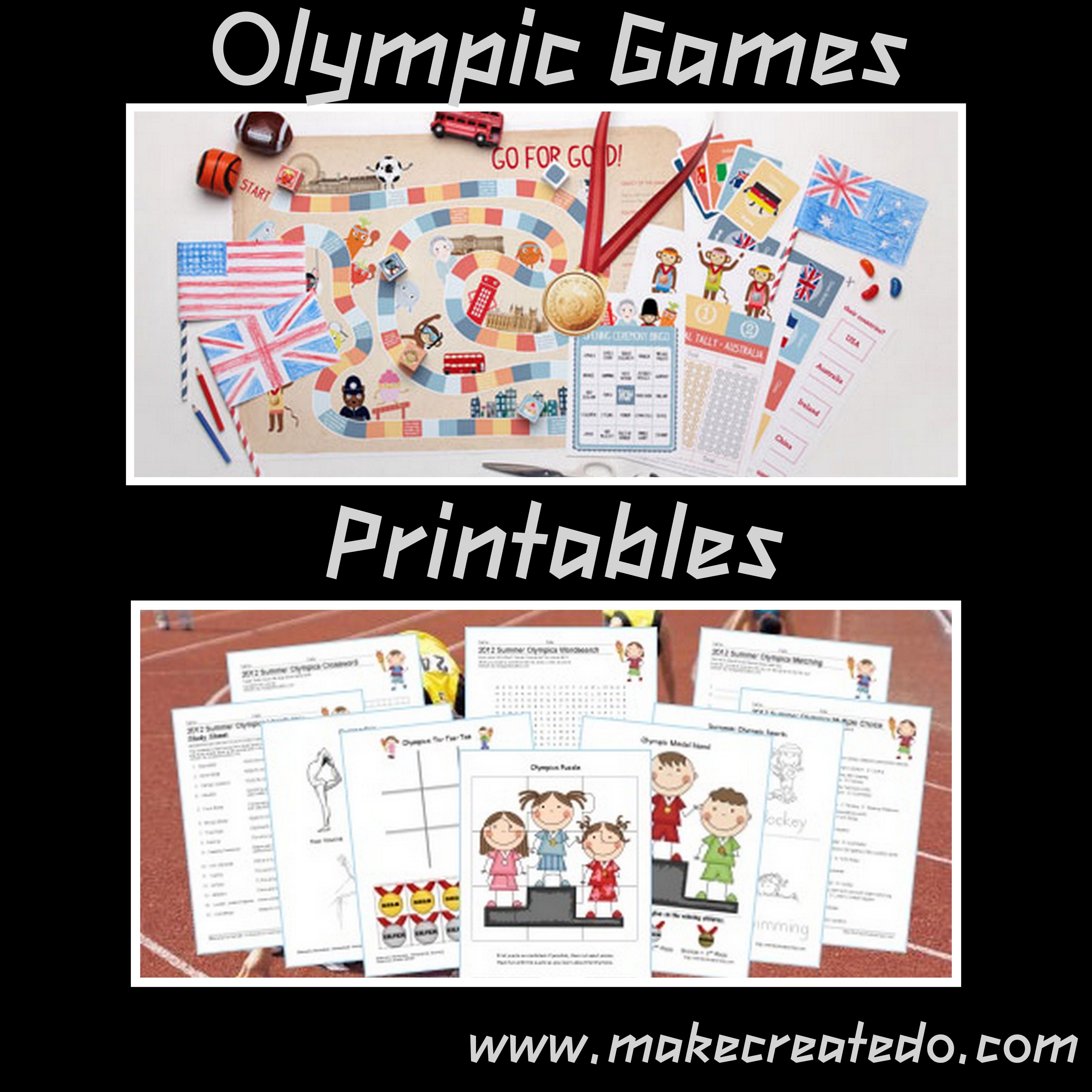Olympic Games Printables