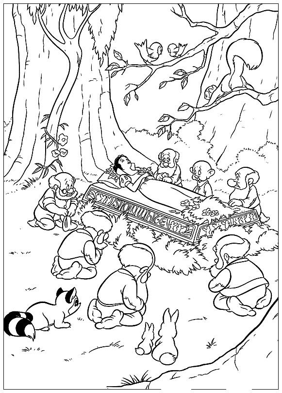 Kids Under 7 Snow White And The Seven Dwarfs Coloring Pages Part 1