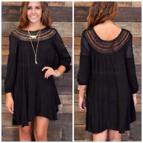 Dharla Darling Crochet Black Dress | Amazing Lace
