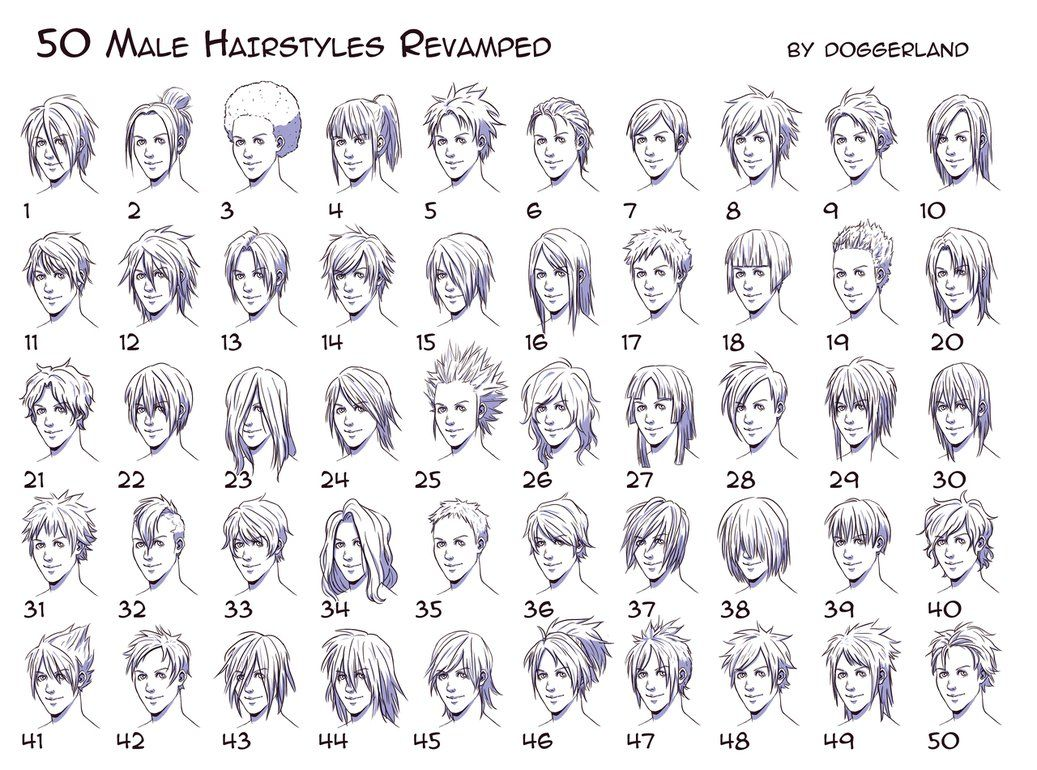 Anime Boy Hair, Manga Hair, Drawings