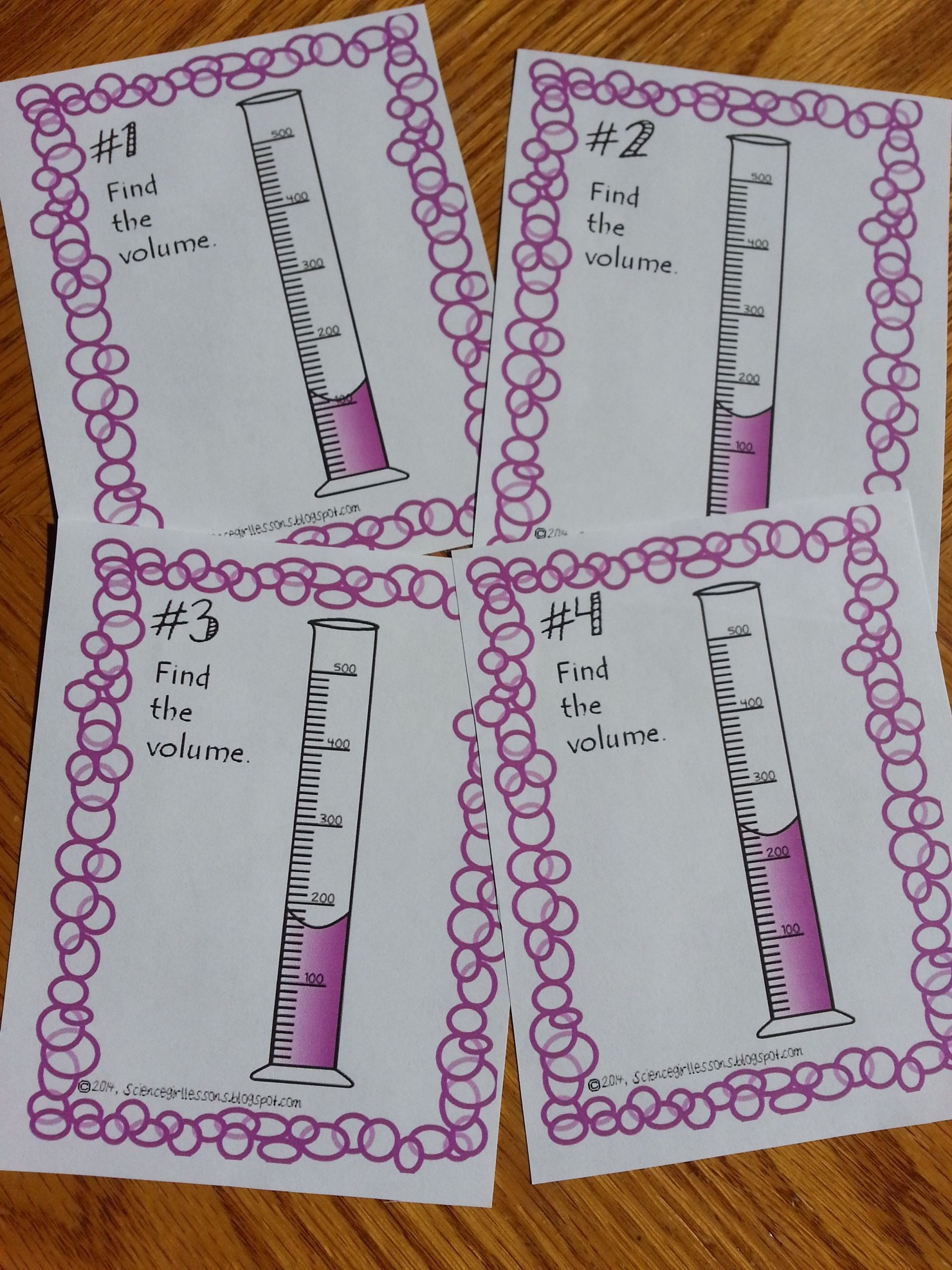 5 Liquid Volume Math Worksheets In
