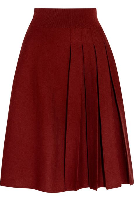 Sonia Rykiel Pleated Wool Skirt 60 At The Outnet Com Faldas Bonitas Falda De Tablones Moda Faldas